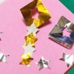 七夕飾り(星飾り)を折り紙で簡単に折る方法